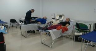 Imagen de archivo de una colecta de sangre realizada en Baena. Foto TV Baena.