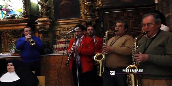 Imagen de archivo de la interpretación del 'Miserere' en la Iglesia Conventual de San Francisco en un vídeo promocional de Caminos de Pasión.