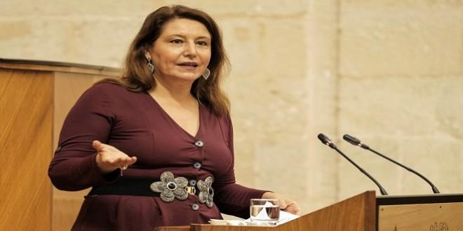 Carmen Crespo, en una comparecencia en el Parlamento andaluz. Foto de archivo: Junta de Andalucía.