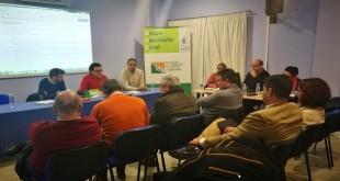 Imagen de archivo de una Asamblea General de Adegua. Foto: TV Baena.