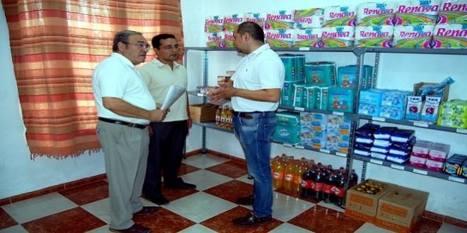 Primer proyecto de economato social puesto en marcha por Baena Solidaria en 2015. Foto de archivo: TV Baena.