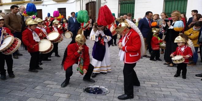 Una imagen de archivo de la procesión infantil del Domingo de Ramos. Foto: TV Baena.