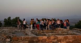Imagen de archivo de una actividad turística organizada por la Mancomunidad del Guadajoz en Torreparedones.
