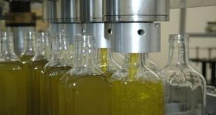 Envasado de aceite de oliva virgen extra.