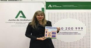 Lourdes Arroyo, asesora de programa del Instituto Andaluz de la Mujer (IAM) en Córdoba. en la presentación de la memoria de 2020. foto: Junta de Andalucía.