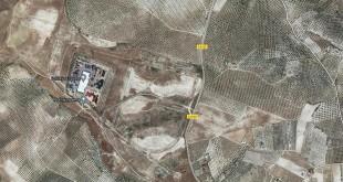 Vista aérea por Google Maps del Parque Empresarial del Guadajoz, ubicado en el paraje 'El Coscujo' de Baena.