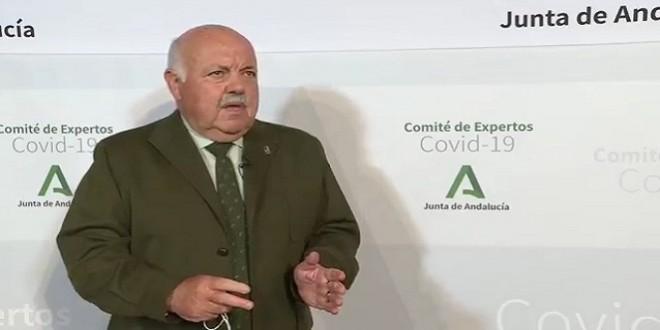 El consejero de Salud, Jesús Aguirre, compareció ayer tras la reunión del Comité de Expertos Covid-19. Foto: Junta de Andalucía.