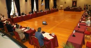 Pleno Ordinario de la Diputación de Córdoba celebrado ayer de forma presencial. Foto: Diputación