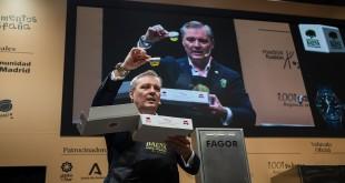 El secretario general de la DOP Baena en la presentación del kit 'fuckcovid' en Madrid Fusión. Foto: DOP baena.