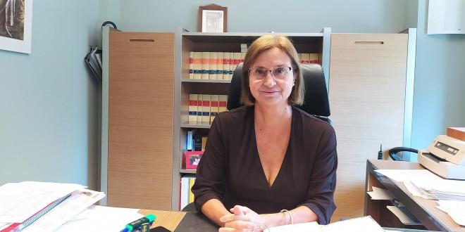 Francisca Bernal, nueva presidenta de la Caja Rural de Baena. Foto: TV Baena.