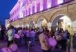 Los tambores coparon las principales calles del casco histórico de Baena. Foto: TV Baena.