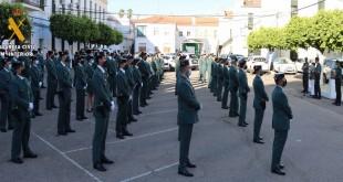 Acto de bienvenida y presentación de los nuevos Guardias Civiles de la Comandancia de Córdoba.